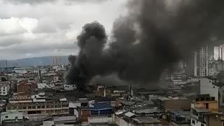 Segundo video de incendio en Bucaramanga