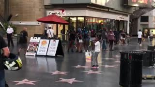 Young Boy Rapping in Downtown Hollywood