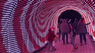 Luminaria Christmas Light Archway