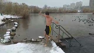 Ice Spring Bathing