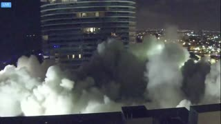 Raw Video of Surfside Building Demolition Florida.