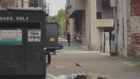 Man Skating Through Alleys Of Georgia