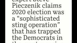 Breaking!! 2020 Election was a sting operation!