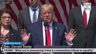"""Trump - """"What we are announcing today is a tremendous tribute to equality"""""""