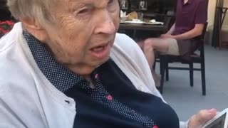 Sweet great-grandmother adorably struggles to say man's name