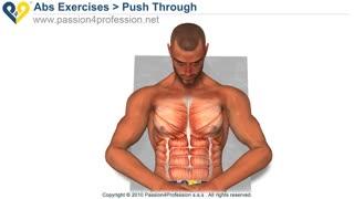 Push Through - Upper Ab Exercise
