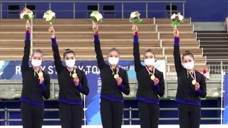 Japan's rhythmic gymnasts hold Olympics test event