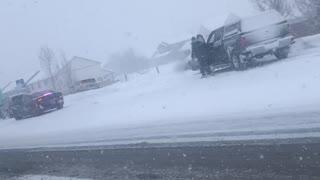 Snow Storm Causes 30 Car Pileup in Montana