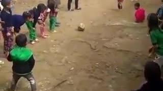 Penalti... como as crianças se divertem