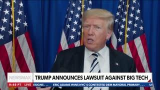 Former President Donald Trump interview with Newsmax's Rob Schmitt