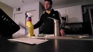 Man Makes Funky Beats with Lint Roller and Tap Water