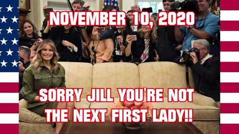 """""""FIRST LADY MELANIA TRUMP NO TO JILL BIDEN - Not Invited to the White House - Count Every Vote"""