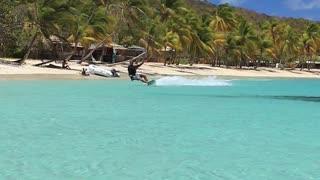 Kitesurfer Walks on Water