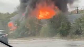 Large fire closer