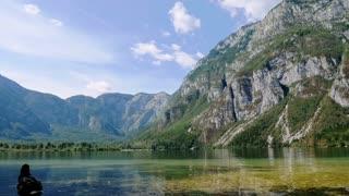 A Time Lapse Video of People Enjoying Lake Bohinj