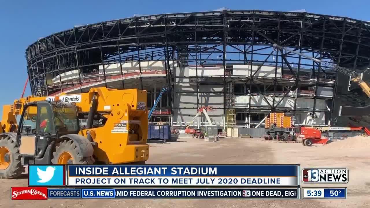 Allegiant Stadium reportedly on track