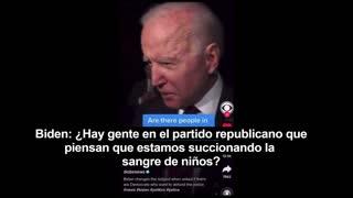 Biden Talking About Blood (With Spanish Subtitles)