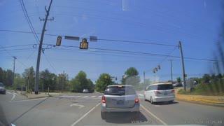 Driver Performs Strange and Dangerous U-Turn