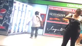 Man tries to break into a vending machine