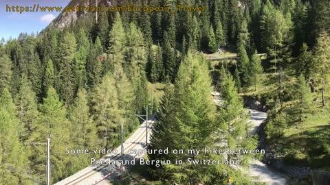 Hike in Albula Valley Switzerland