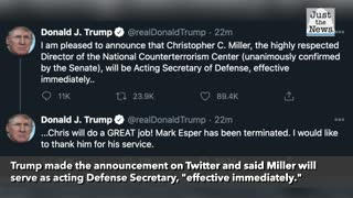 Trump replaces Esper as Defense secretary