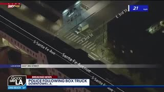Stolen Box Truck Police Pursuit, Foot Bail and Escapes Into A Tunnel?