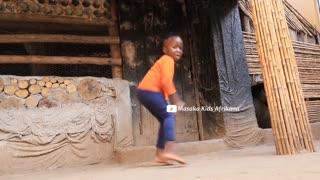 African masaka child dance video
