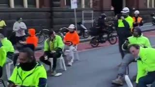 Austrailia Construction Workers PROTEST