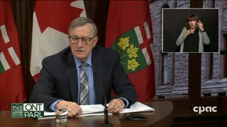 CPAC video of Ontario's chief medical officer of health