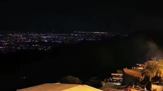 Beautiful view of Islamabad city at night