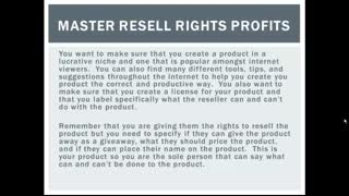 Master Resell Rights Profits