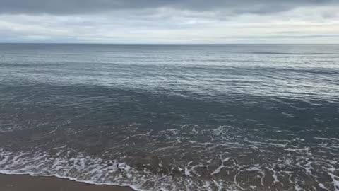 Quiet ocean shore