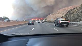 Camarillo Fire Surrounds Highway