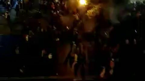 Patriots in front of JW Marriott DC