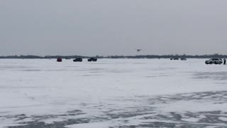 Ice fishing flyby