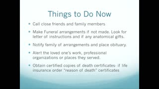Death of Family or Friend Practical Advice
