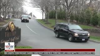 MAGA - President Trump motorcade leaving golf course November 15, 2020