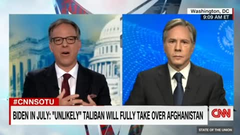 Jake Tapper Actually Pushes Biden Secretary of State on Afghanistan Withdrawal
