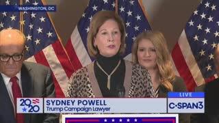 Sidney Powell Releases the Voter Fraud Kraken On Media