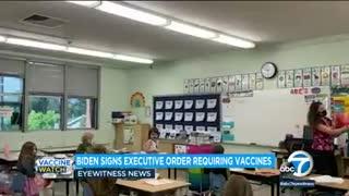 Biden announces new COVID vaccine mandates for 100 million Americans _ ABC7()