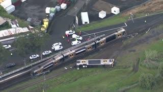 Passenger train derails in Australia
