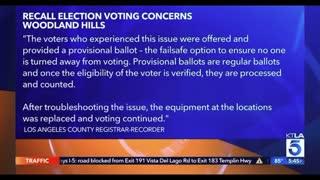 KTLA reporting on RECALL voting FRAUD