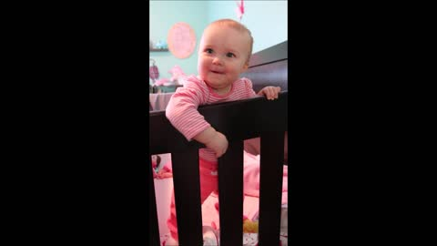 Baby's adorable reaction while playing peekaboo