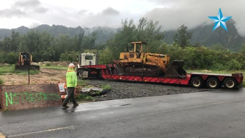 City contractor removes vandalized bulldozer at Sherwood Forest