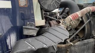 Mac Truck engine running passengers side
