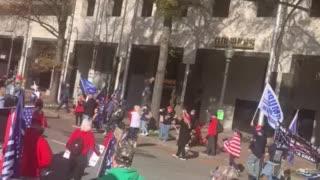 Trump visits million MAGA March this am