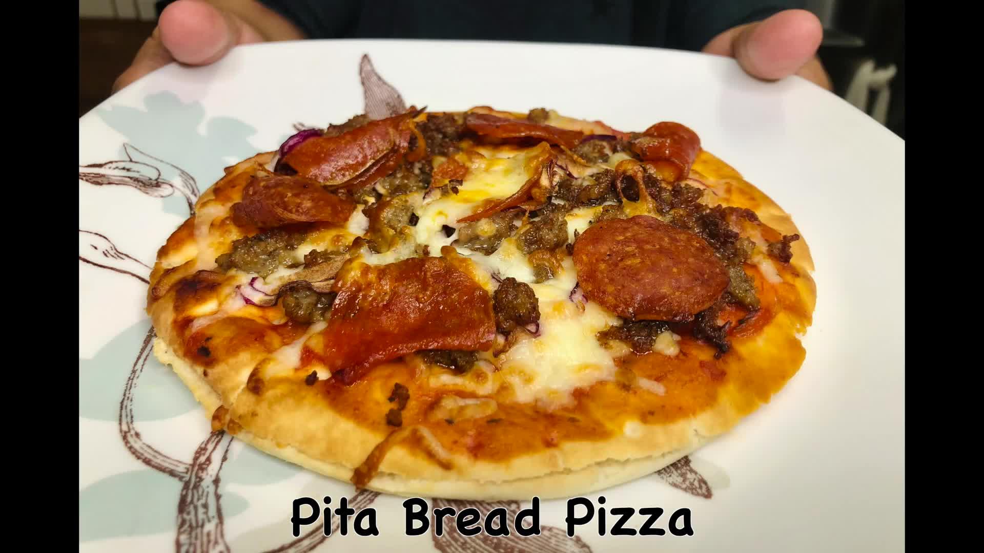 Pita Bread Stuffed Cheese Pizza