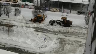 Snow removal in the winter.