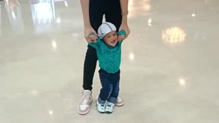 Cute baby with a beautiful Girl