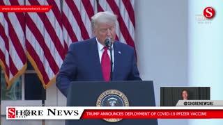 Trump announces success of Operation Warp Speed